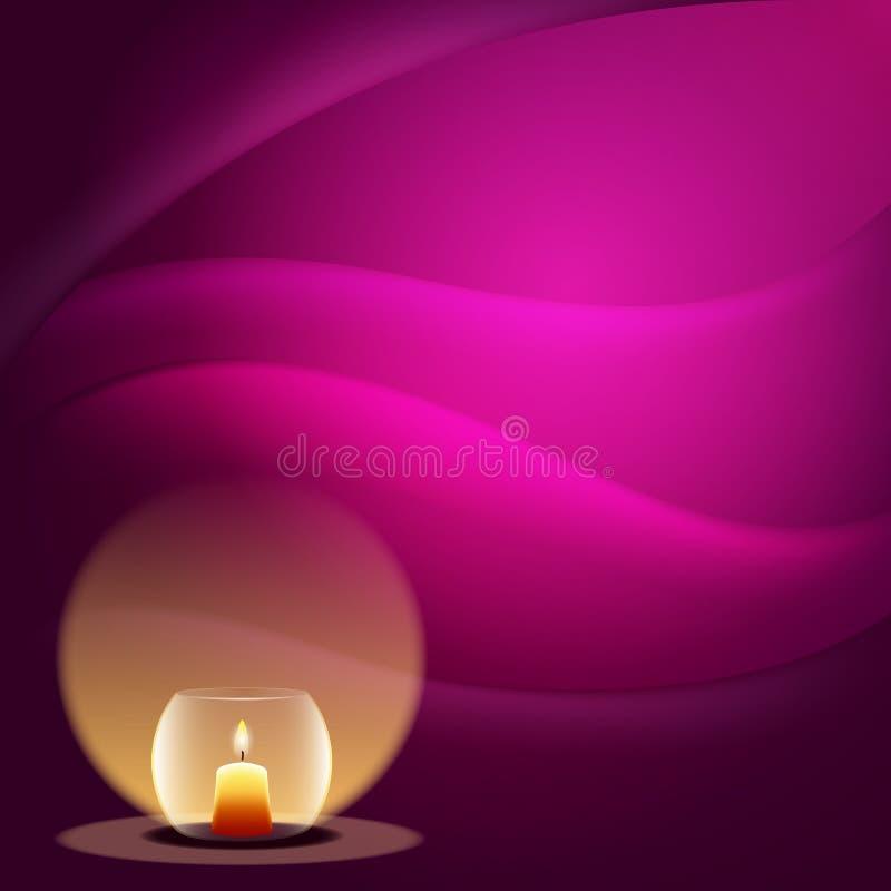 Романтичная предпосылка с свечкой стоковая фотография rf