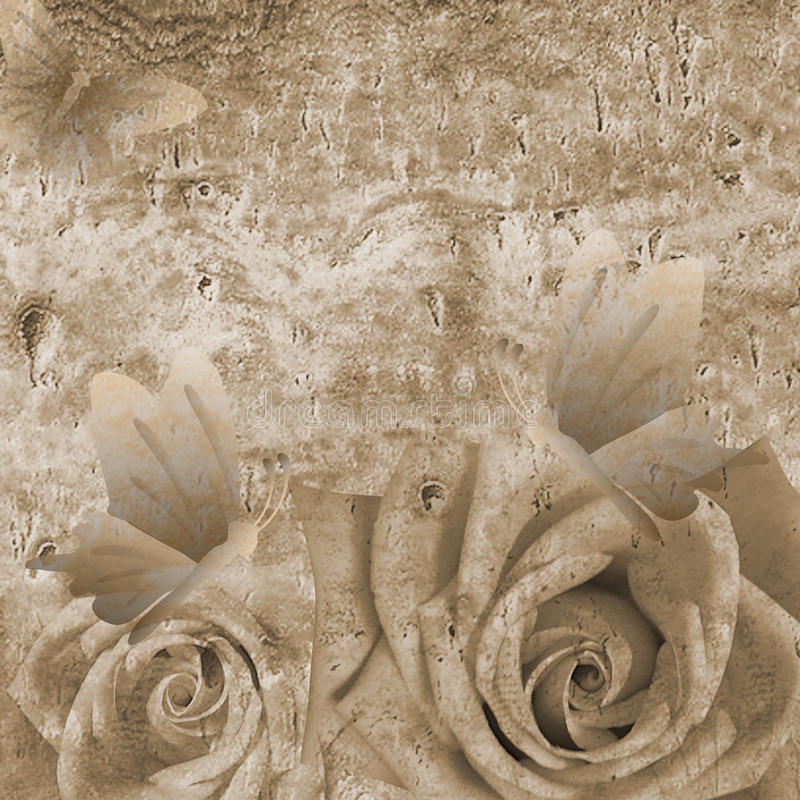 Романтичная предпосылка с розами стоковое фото rf