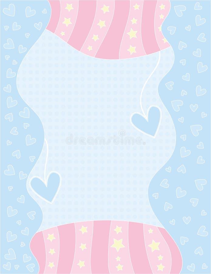 Романтичная предпосылка с сердцами, точками и звездами иллюстрация штока
