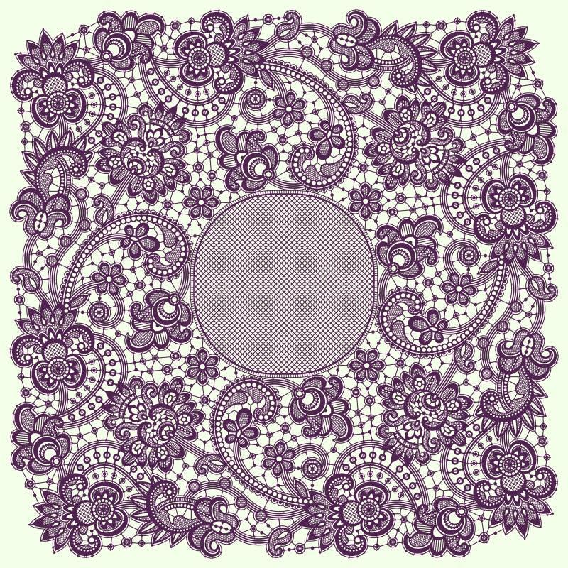 Романтичная рамка шнурка иллюстрация штока