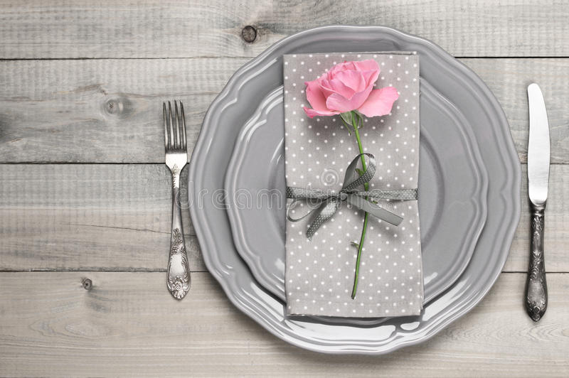 романтичная таблица установки стоковое фото rf