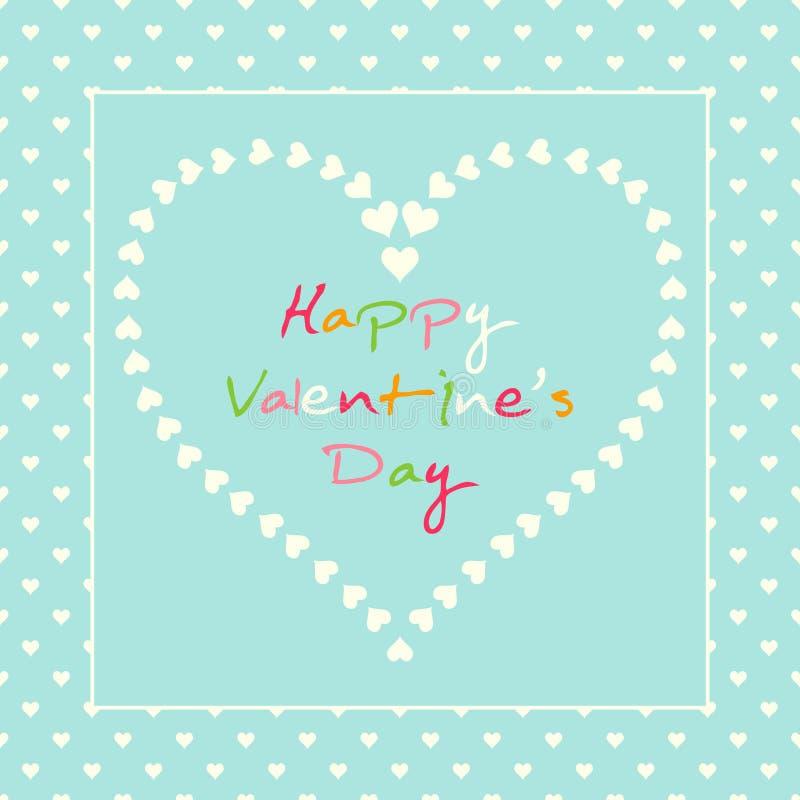Романтичное пастельное сердце с красочной картиной текста иллюстрация штока