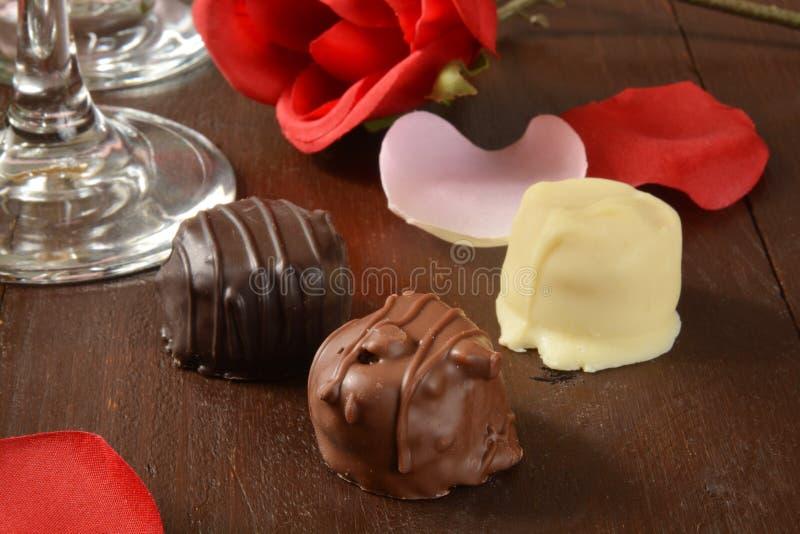 Романтичные шоколады стоковые фото