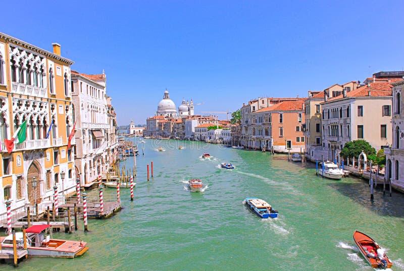 Романтичный взгляд большого канала, Венеции, Италии стоковые фотографии rf