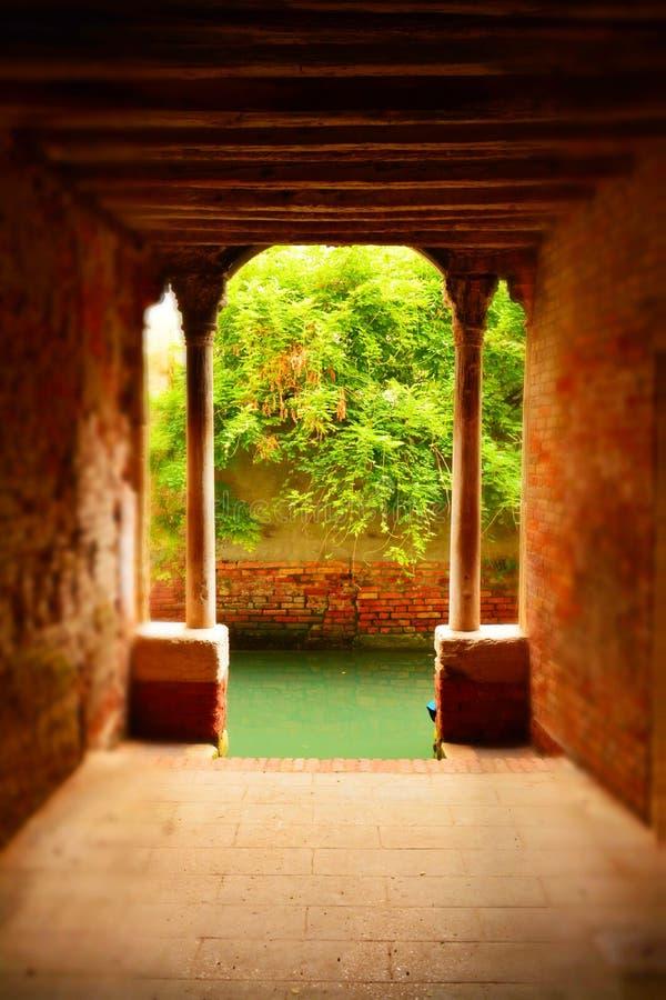 Романтичный городской пейзаж, Венеция, Италия стоковые изображения rf