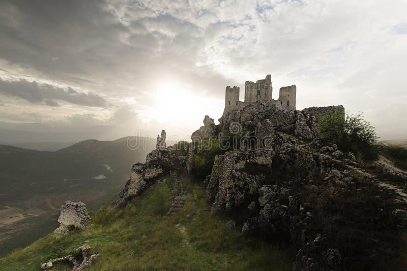 Романтичный замок стоковое изображение rf