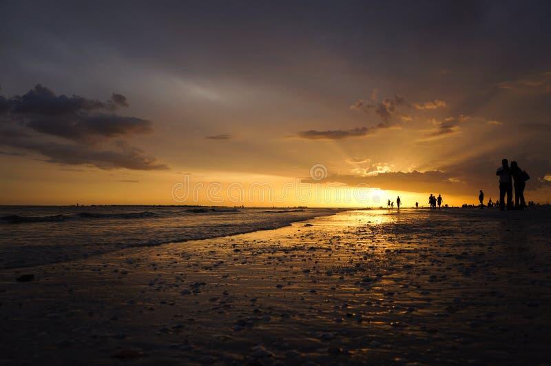 Романтичный заход солнца Флорида стоковое изображение rf