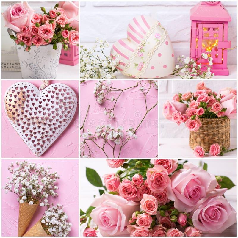 Романтичный коллаж стоковые фотографии rf