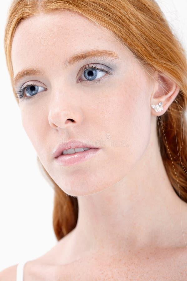 Романтичный портрет redhead стоковые изображения