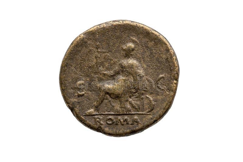 Роман Дупондий Монет римского императора Неро стоковые изображения rf