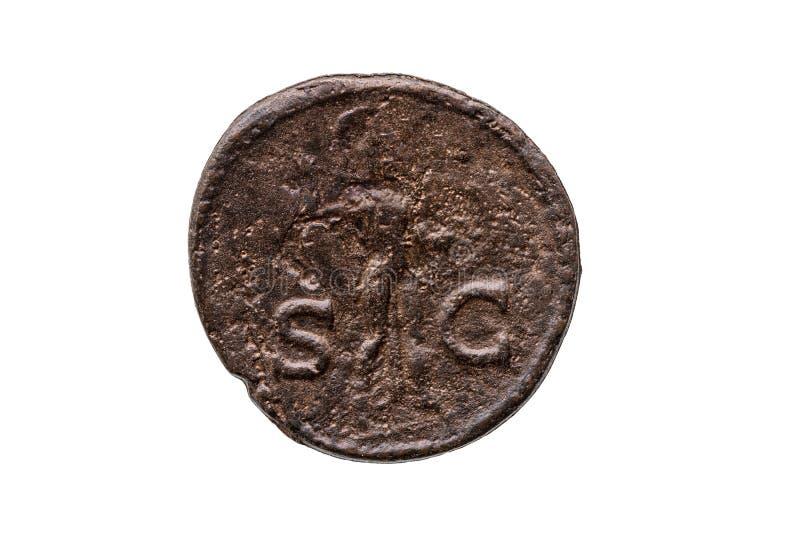 Роман, как монета римского императора Клавдия, обратная сторона стоковые изображения rf