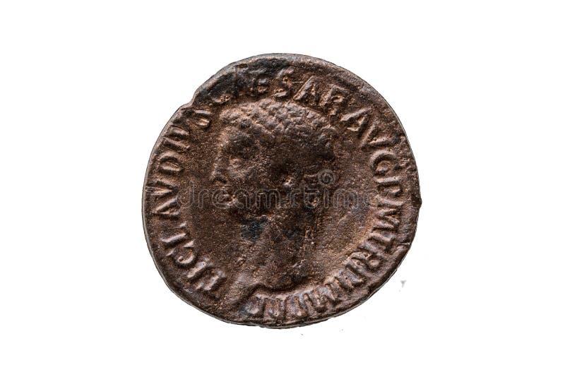 Роман как монета римского императора Клавдия стоковые изображения rf
