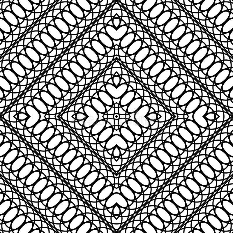 Ромбовидный узор дизайна безшовный monochrome иллюстрация штока