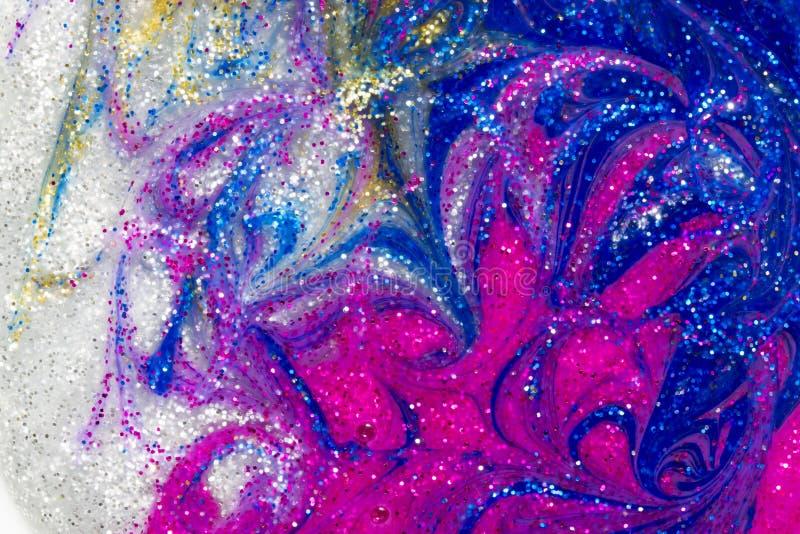 Роскошная абстрактная предпосылка свирлей краски яркого блеска стоковое фото rf
