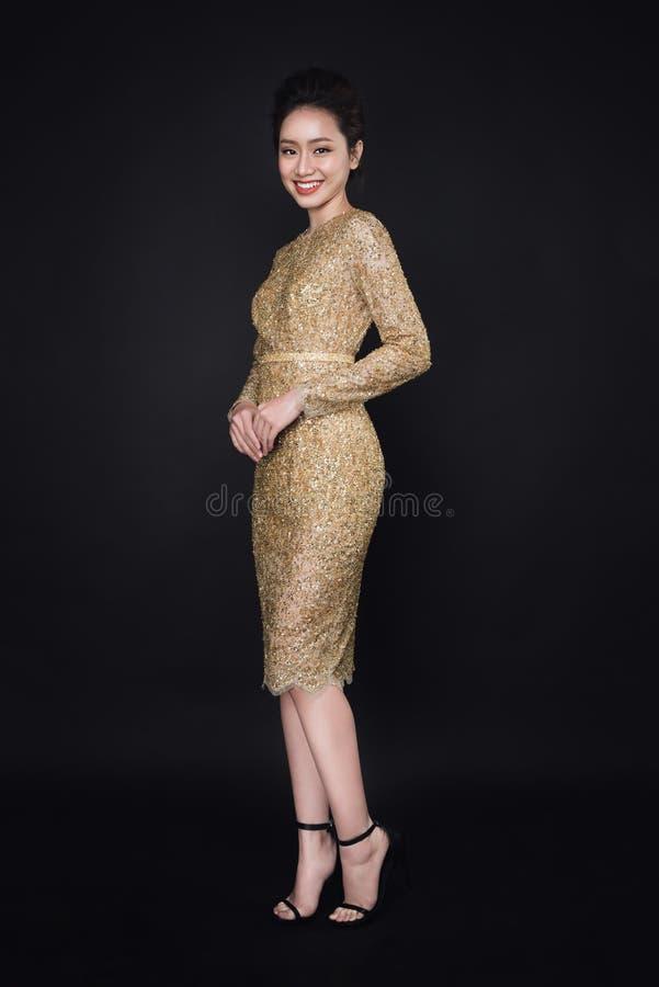 Роскошная азиатская женщина стоковое фото rf