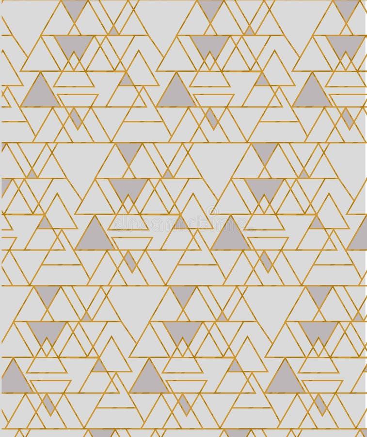 Роскошная безшовная картина вектора с формами треугольника бесплатная иллюстрация