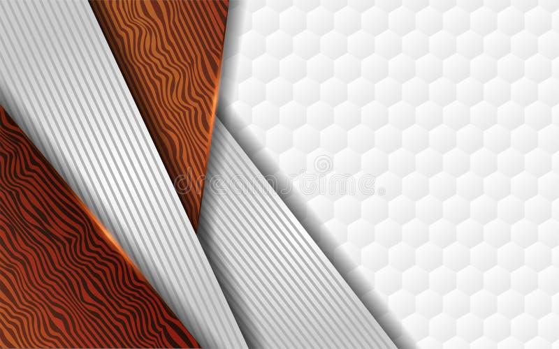 Роскошная белая и деревянная предпосылка текстуры бесплатная иллюстрация