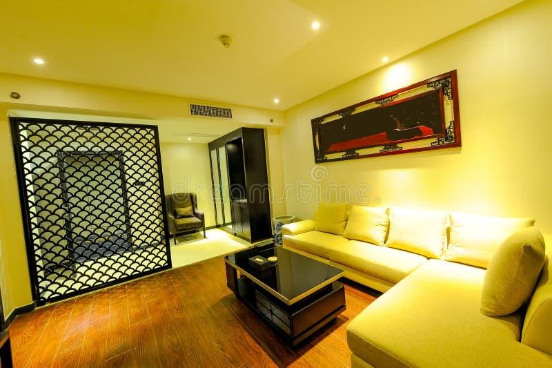 Роскошная живущая комната в гостинице стоковое фото