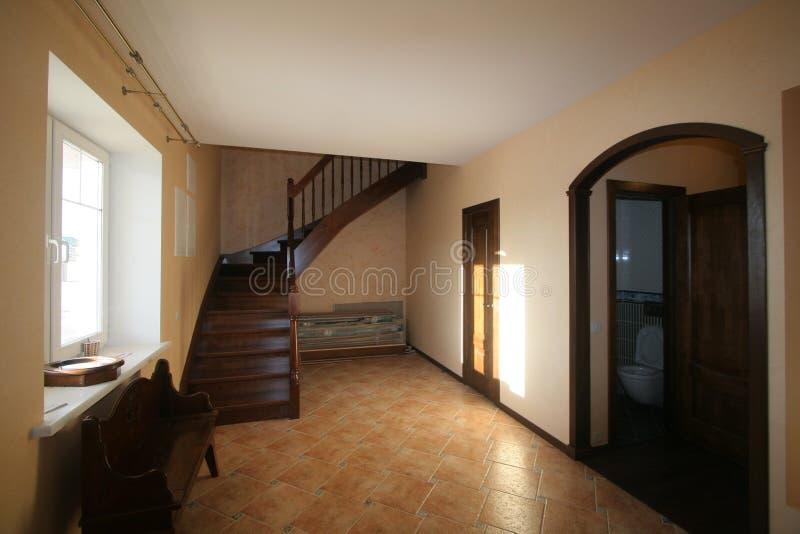 Роскошная живущая комната, красивый вход стоковая фотография rf