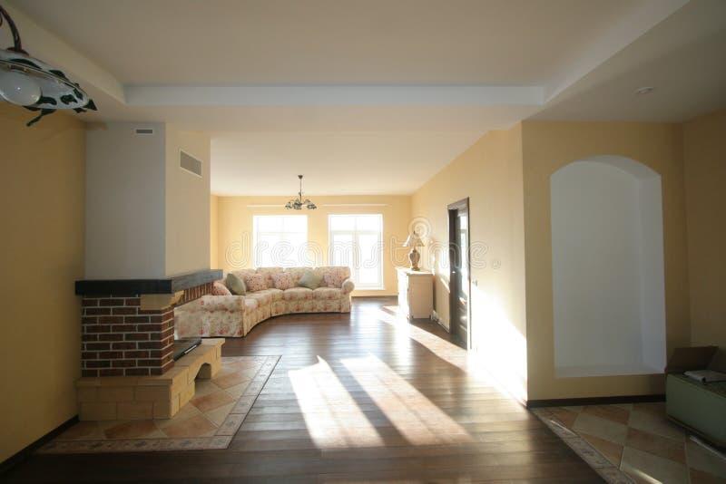 Роскошная живущая комната, красивый вход стоковое изображение rf