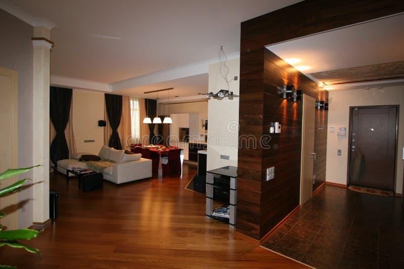 Роскошная живущая комната, красивый вход стоковое фото rf