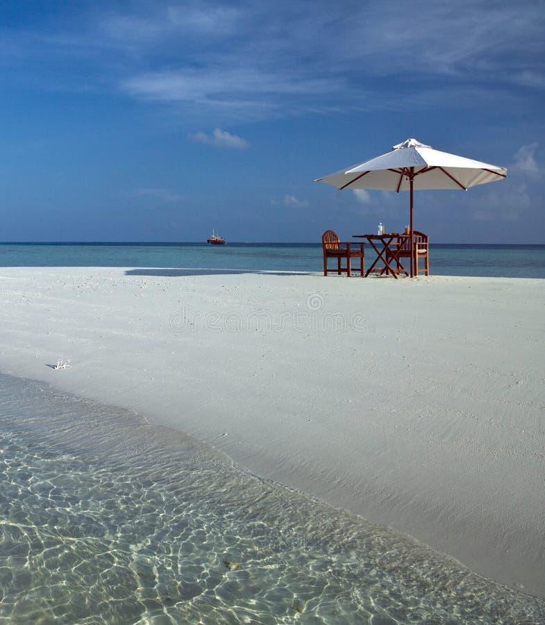 Роскошная каникула - Мальдивы стоковая фотография