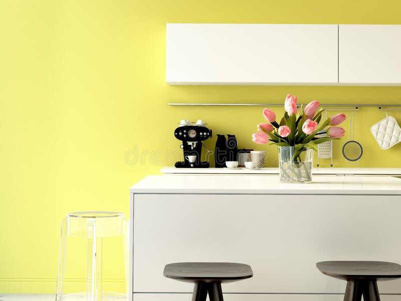 Роскошная кухня с приборами нержавеющей стали стоковые фотографии rf
