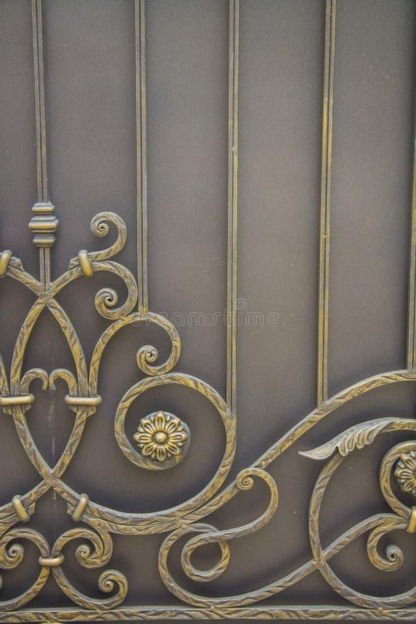 Роскошная чугунная деталь загородки стоковая фотография rf