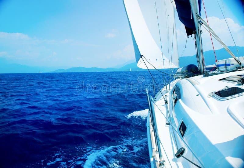 роскошная яхта sailing стоковая фотография