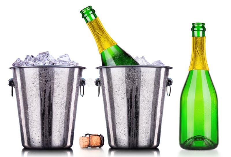Роскошное изолированное собрание шампанского стоковое фото rf