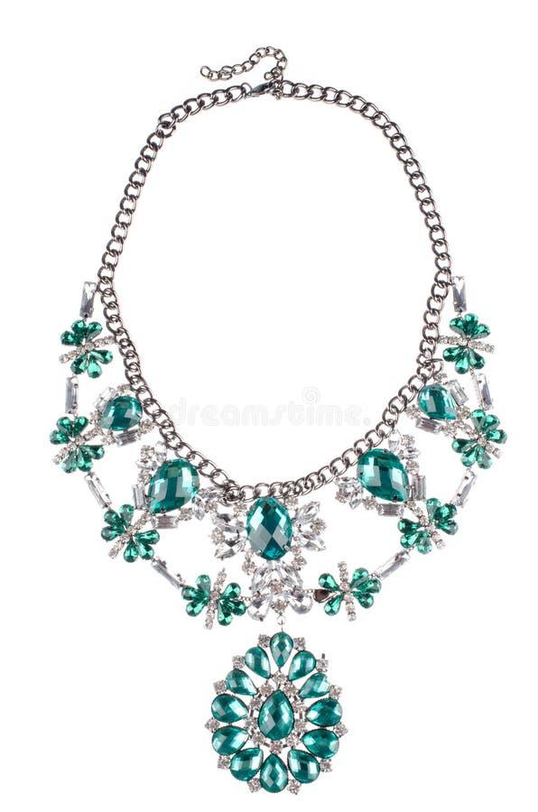 Роскошное ожерелье моды на белой предпосылке стоковые фото