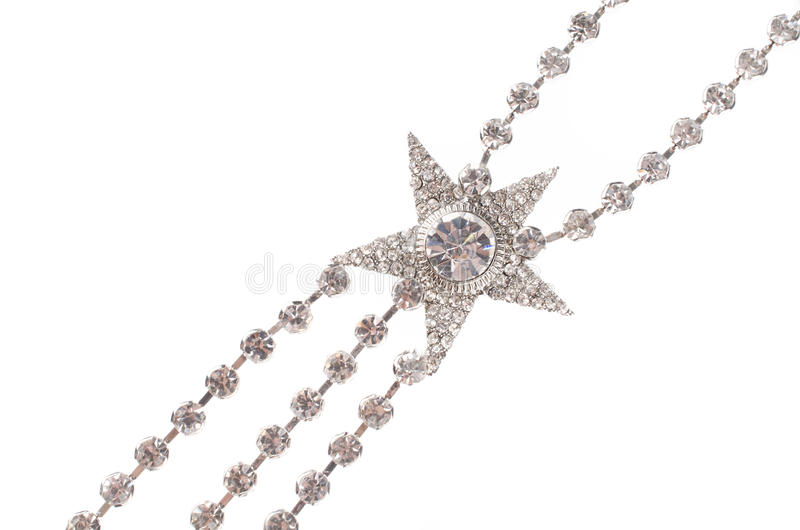 Роскошное ожерелье моды на черной предпосылке стоковые изображения rf