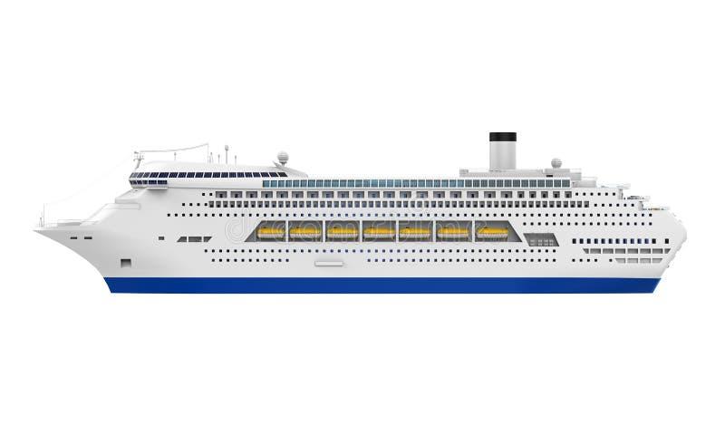 Роскошное туристическое судно иллюстрация вектора