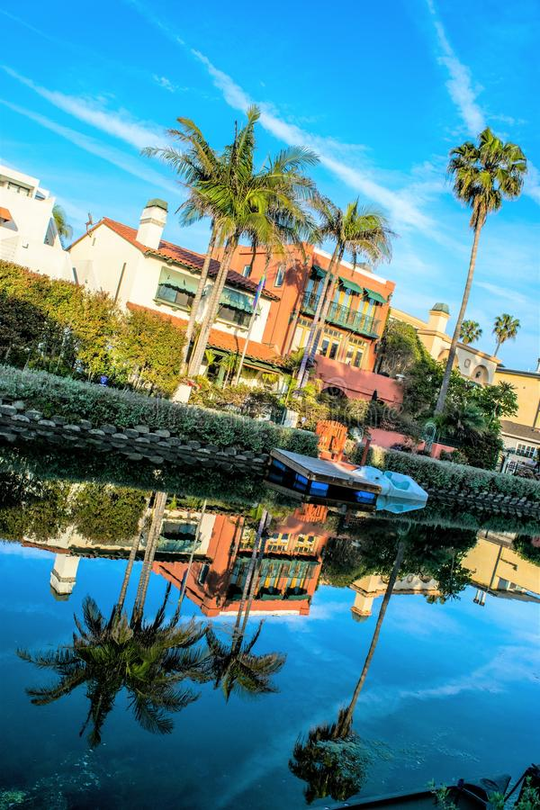 Роскошные дома на каналах Венеции, Калифорния стоковые фото
