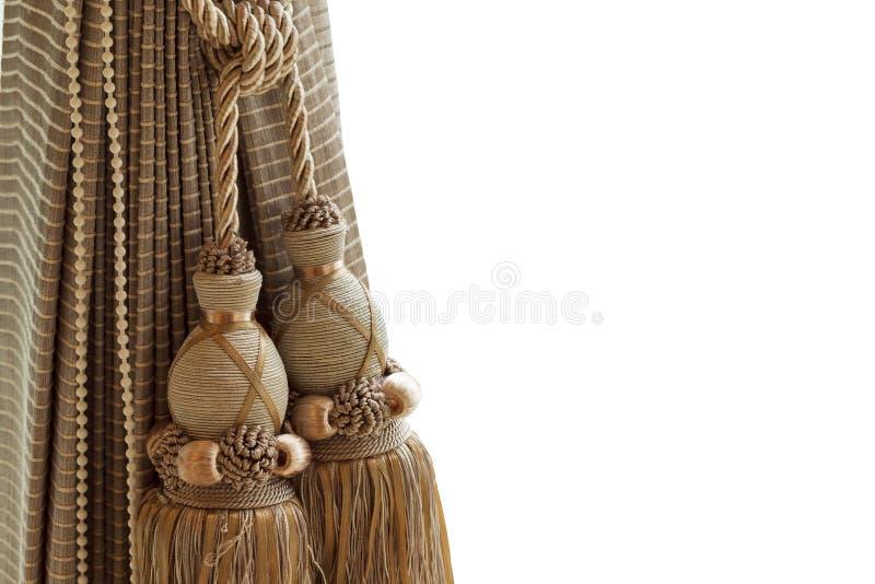Роскошные занавес и tassel стоковое изображение