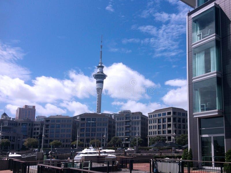 Роскошные квартиры в портовом районе Новой Зеландии Окленда стоковое изображение rf
