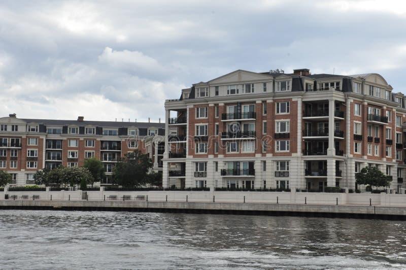 Роскошные кондоминиумы в Балтиморе стоковое изображение