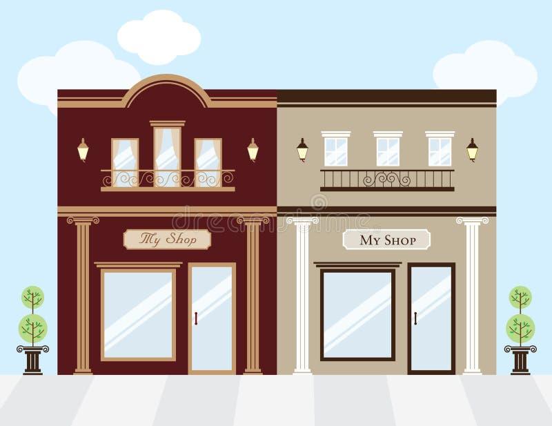 роскошные магазины иллюстрация вектора