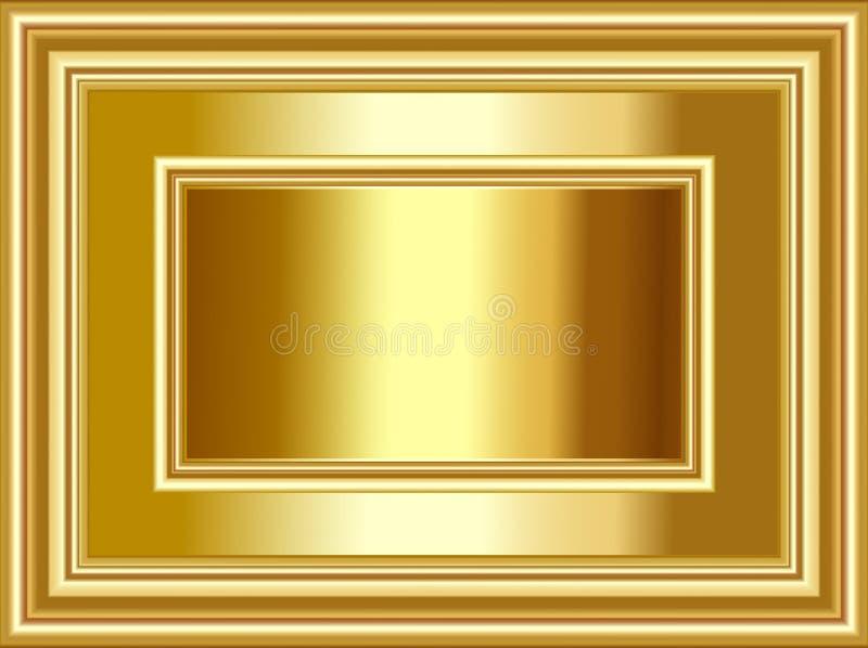 Роскошные предпосылка и рамка золота для случаев фестиваля и торжеств иллюстрация вектора