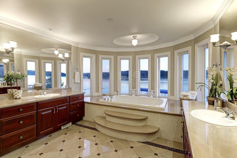 Роскошные хвастовства мастерской ванны выпустили струю ушат стоковые изображения