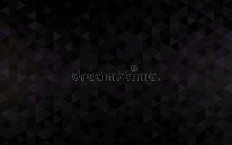 Роскошные черные треугольники отклоняют обои Абстрактная предпосылка мозаики для современного дизайна иллюстрация штока