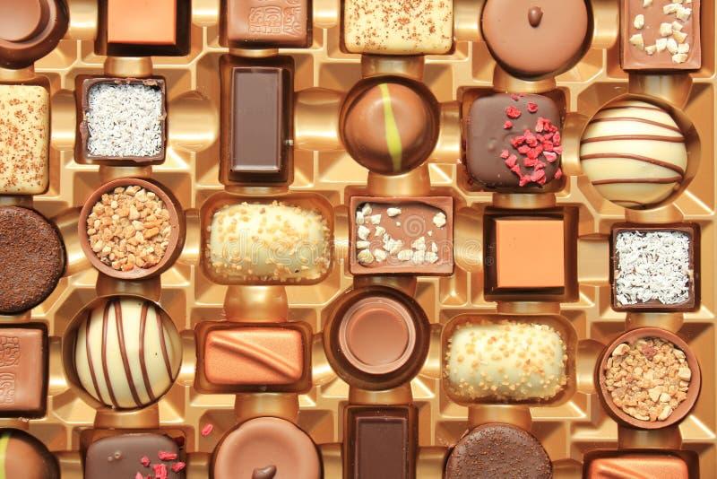 Роскошные шоколады в коробке стоковая фотография rf