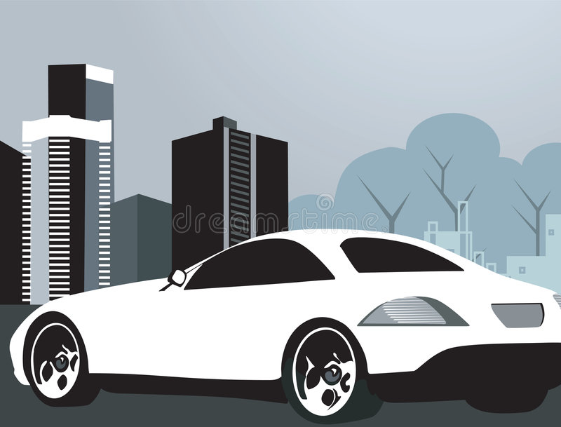 Роскошный автомобиль иллюстрация вектора