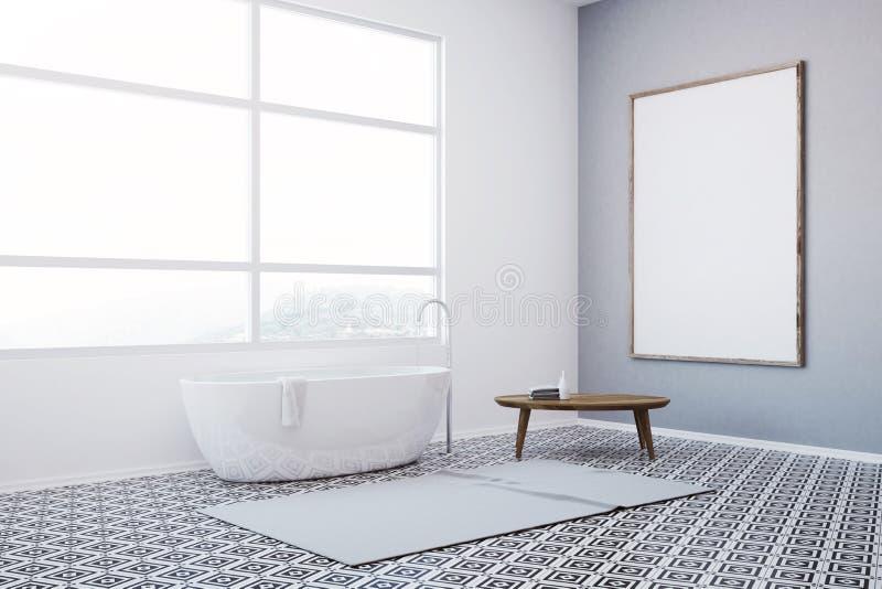 Роскошный белый мраморный угол ванной комнаты иллюстрация штока