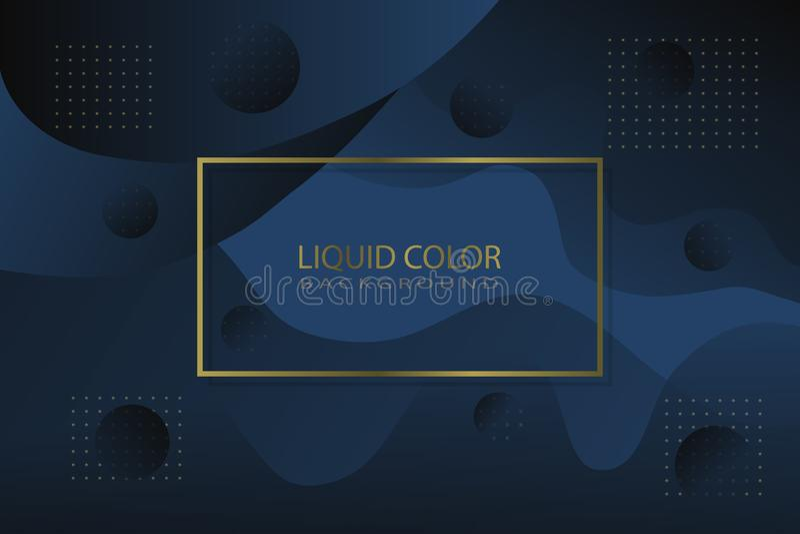 Роскошный жидкостный цвет как предпосылка иллюстрация вектора