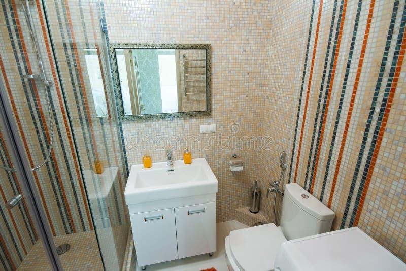 Роскошный ливень ванной комнаты стоковое фото rf
