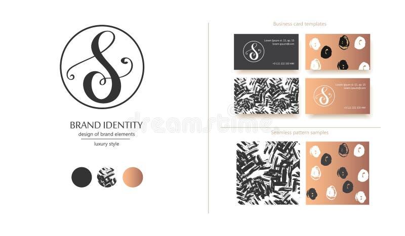 Роскошный каллиграфический вензель письма s - vector шаблон логотипа Изощренный дизайн бренда бесплатная иллюстрация