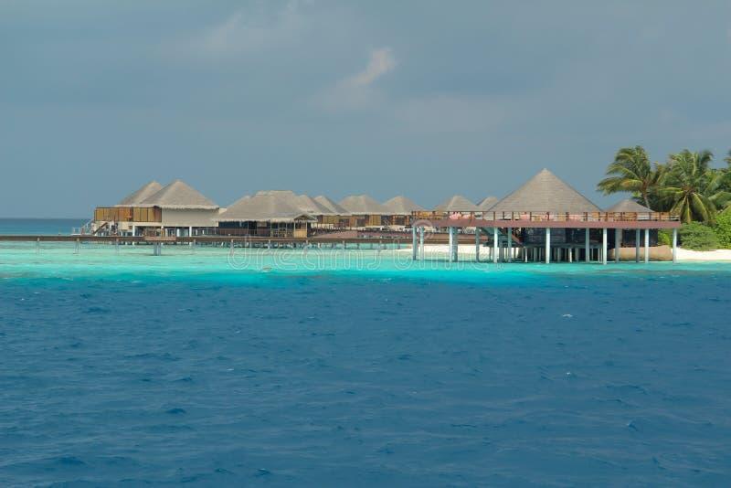 Роскошный курорт в Мальдивах стоковая фотография rf