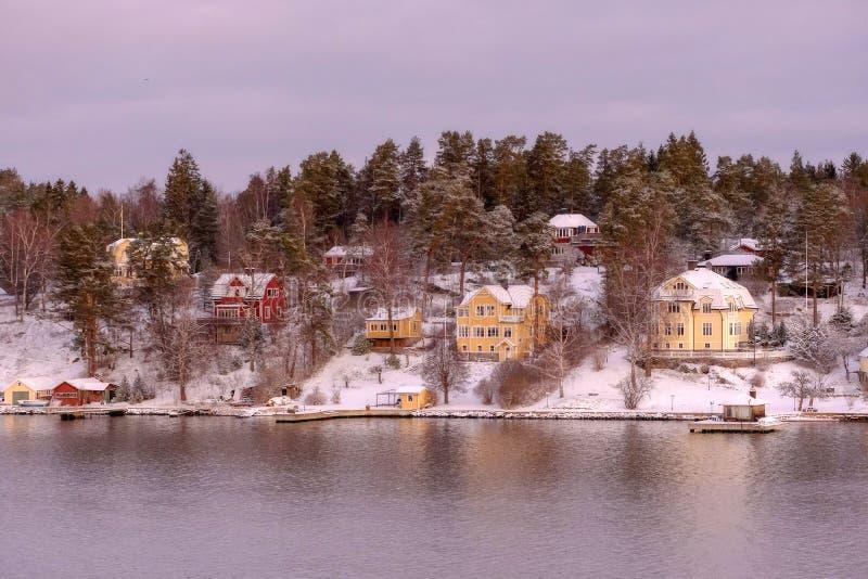 Роскошный скандинавский образ жизни, богатые дома стоковое фото