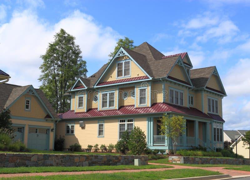 Роскошный слободский родной дом стоковое фото rf